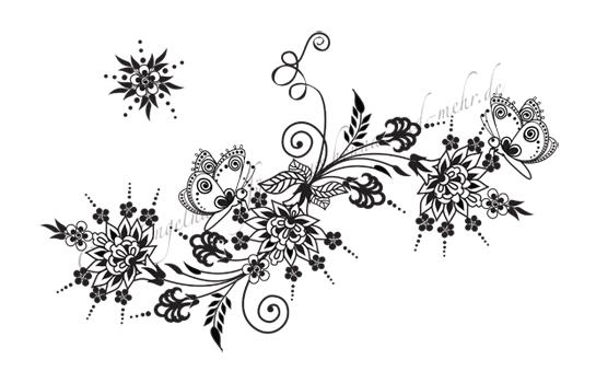 Henna-Tattoo-Schablonen für Hände, Füße, Schulter, Dekolleté ...
