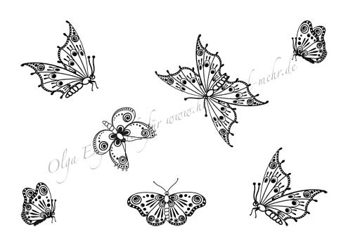 mod le de dessin au henn ou mehndi no 26 papillons. Black Bedroom Furniture Sets. Home Design Ideas