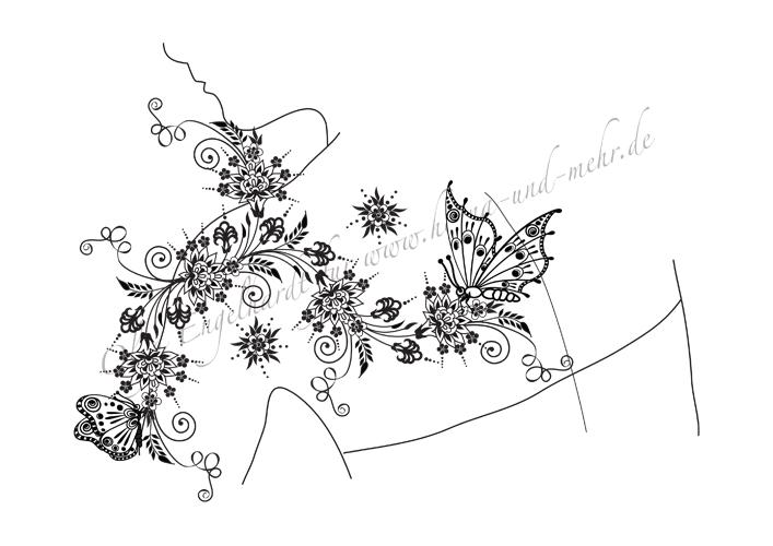 Mod le de dessin au henn ou mehndi no 26 - Henne main facile ...