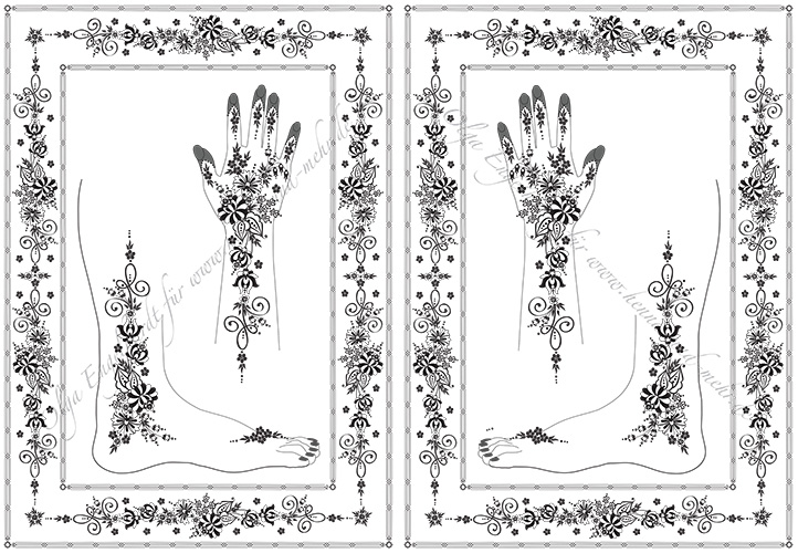 mod le de dessin au henn ou mehndi no 28. Black Bedroom Furniture Sets. Home Design Ideas